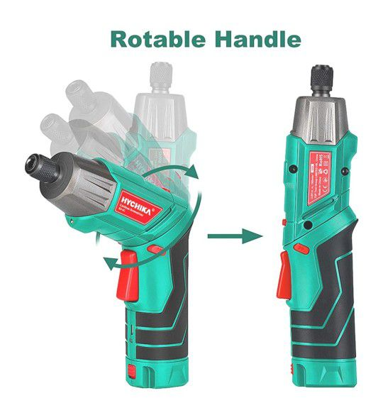 3.6V 2.0Ah Electric Screwdriver Rechargeable Screw Gun, Front LED and Rear Flashlight