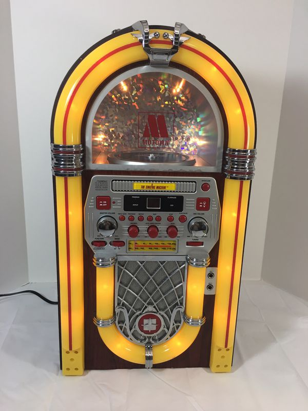 "Mini Jukebox style CD/Radio/Singing machine  Dimension: 22""H x 12""W x 9""D  for Sale in Jacksonville, FL - OfferUp"