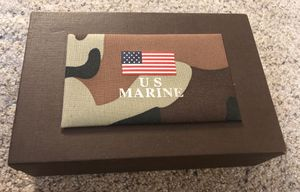 BRAND NEW U.S. MARINE Brown Leather Case/Box with Untouched Items for Sale in Webster Groves, MO