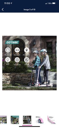 GOTRAX XOOM Electric Scooter with 6inch Wheels  Thumbnail