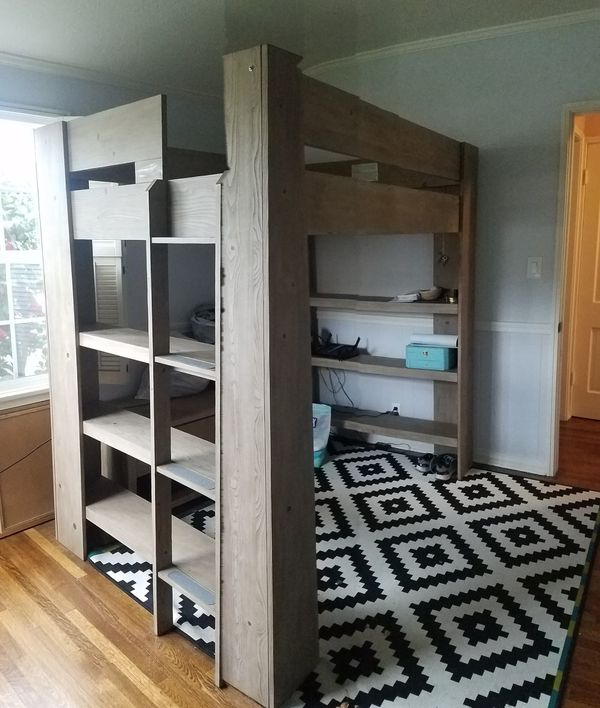 Pottery Barn Teen Costa Loft Bed Media Set For Sale In San