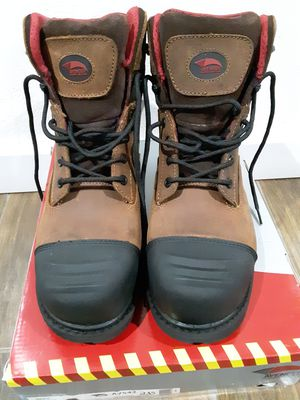 Photo Steel toe boots mens work size 11w $65