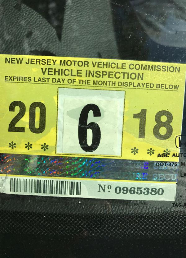 Nj Vehicle Inspection >> 2018 New Jersey Inspection Sticker For Sale In Bergenfield Nj Offerup