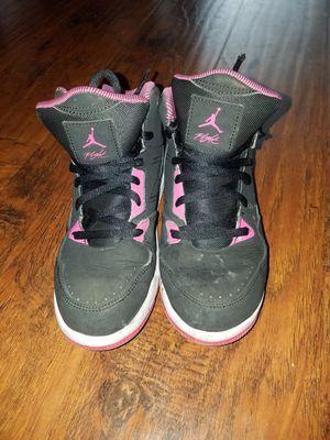 7019f2b12193 Nike Air Jordan Flight Black Pink High Basketball Shoes Youth for Sale in  Torrance