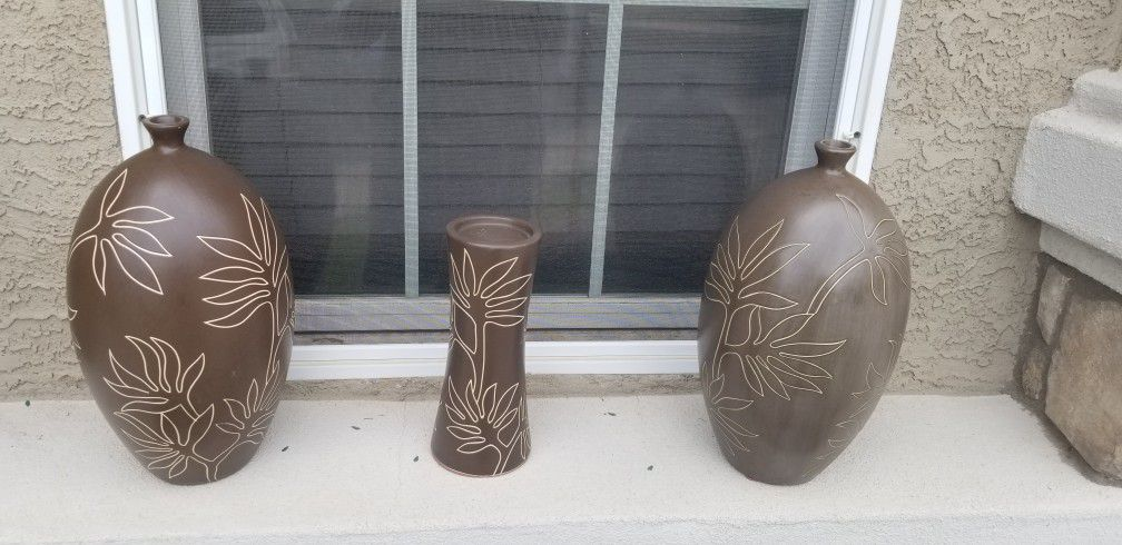 Ceramic vase with Candle holder