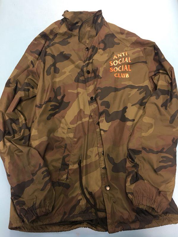 0a96362f4f17 Anti Social Social Club Camo Coach Jacket for Sale in Walnut