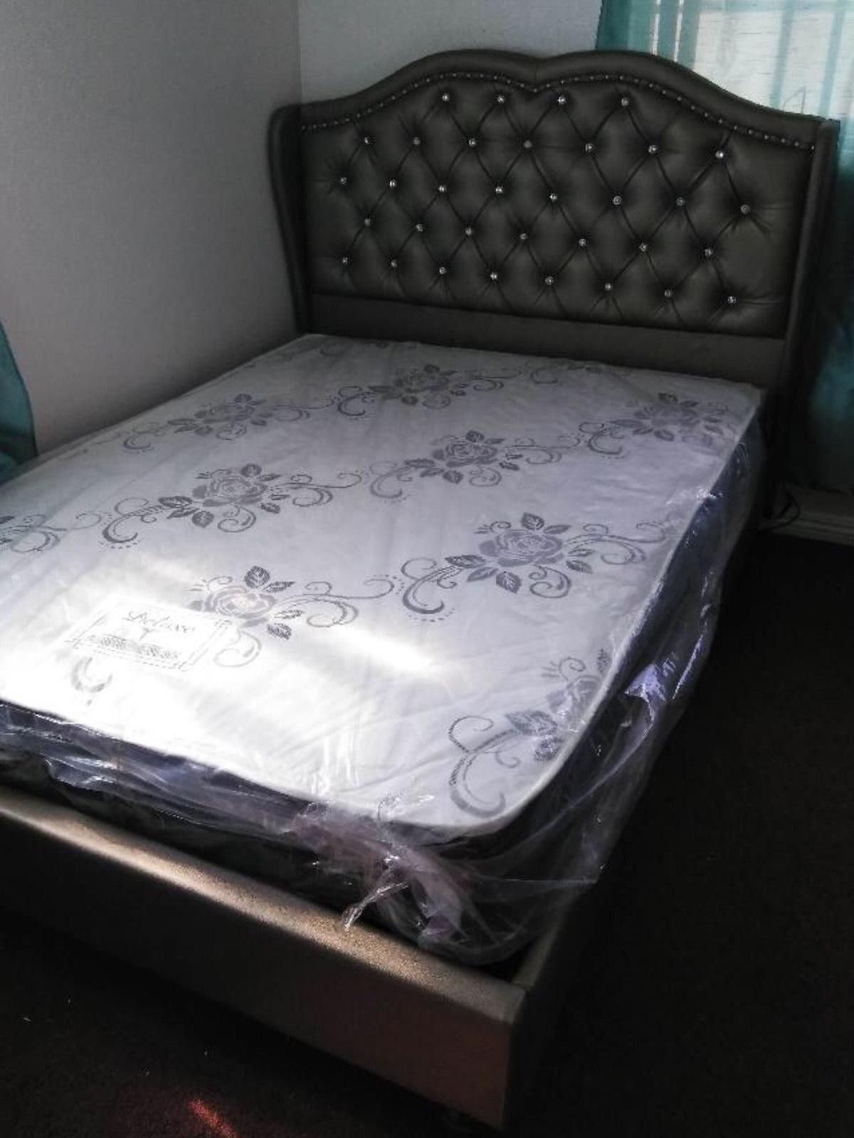 QUEEN BEDS W ORTHOPEDIC MATTRESS INCLUDED.