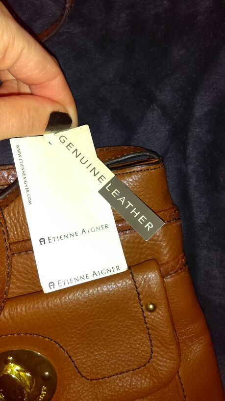 Etienne aigner genuine leather Small shoulder bag
