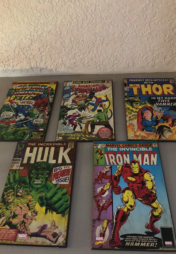 Marvel Wooden Wall Art For Sale In Hillsboro Or Offerup