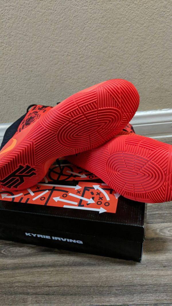 timeless design f67ee 690b7 ... canada nike kyrie 2 inferno size 12.5 bright crimson atomic orange black  819583 680 for sale