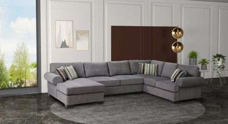 Millwood Pewter Sectional/living room Set /couch 🛋️💕39 $down payment 🚚👍 Thumbnail