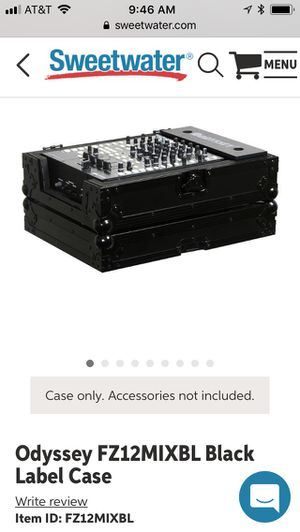 Odyssey FZ12MIXBL Black Label Case, case only, like new for Sale in Agoura Hills, CA