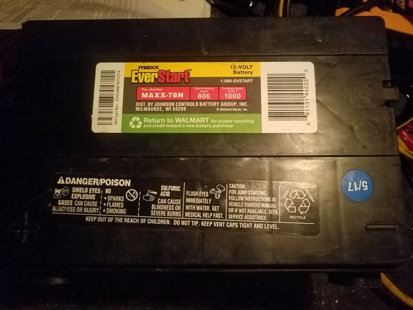 MAXX EVERSTART SIZE 78 Battery in great shape only used for 2 weeks ...