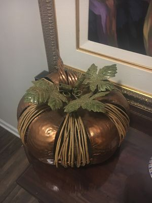 Big pumpkin chrome and brass for Sale in Rockville, MD