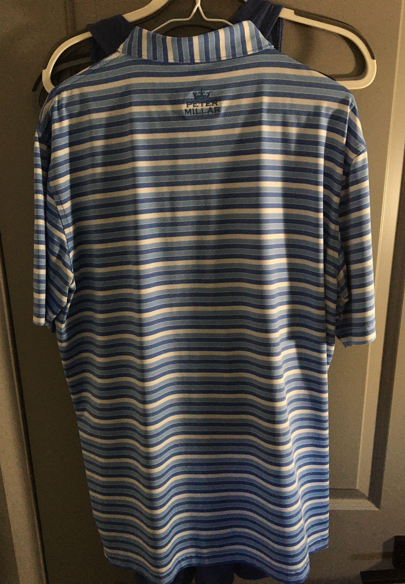 Peter Millar Golf shirt sz Large