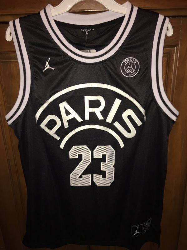 new styles 6b0b1 7376a Rare PSG Jordan #23 Basketball jersey black M Paris for Sale in Doral, FL -  OfferUp