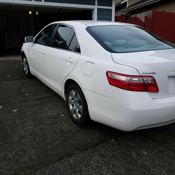 2008 Toyota Camry 2 4l Le White For Sale In Federal Way