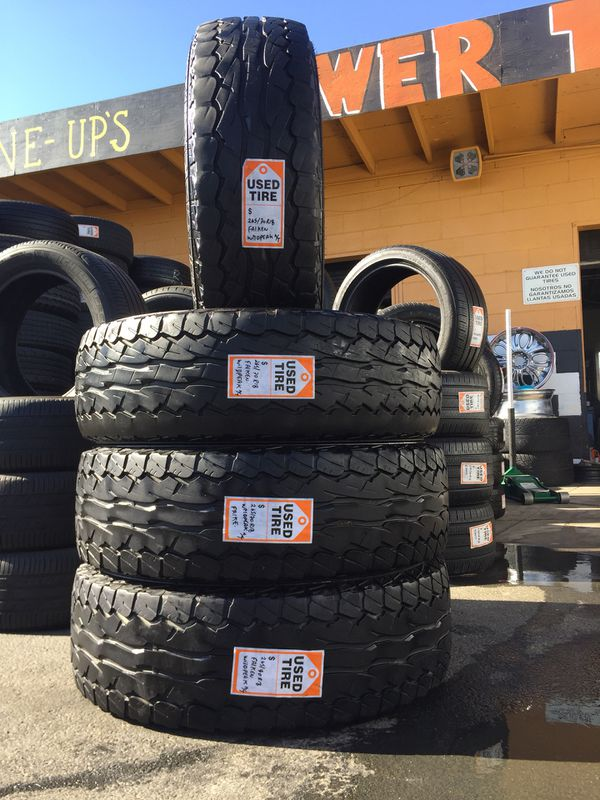 We Sell a set Of four Used Tires 265/70R18 Falken WilDpeak A/T (Auto ...