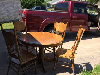 Dining table and four chairs Thumbnail