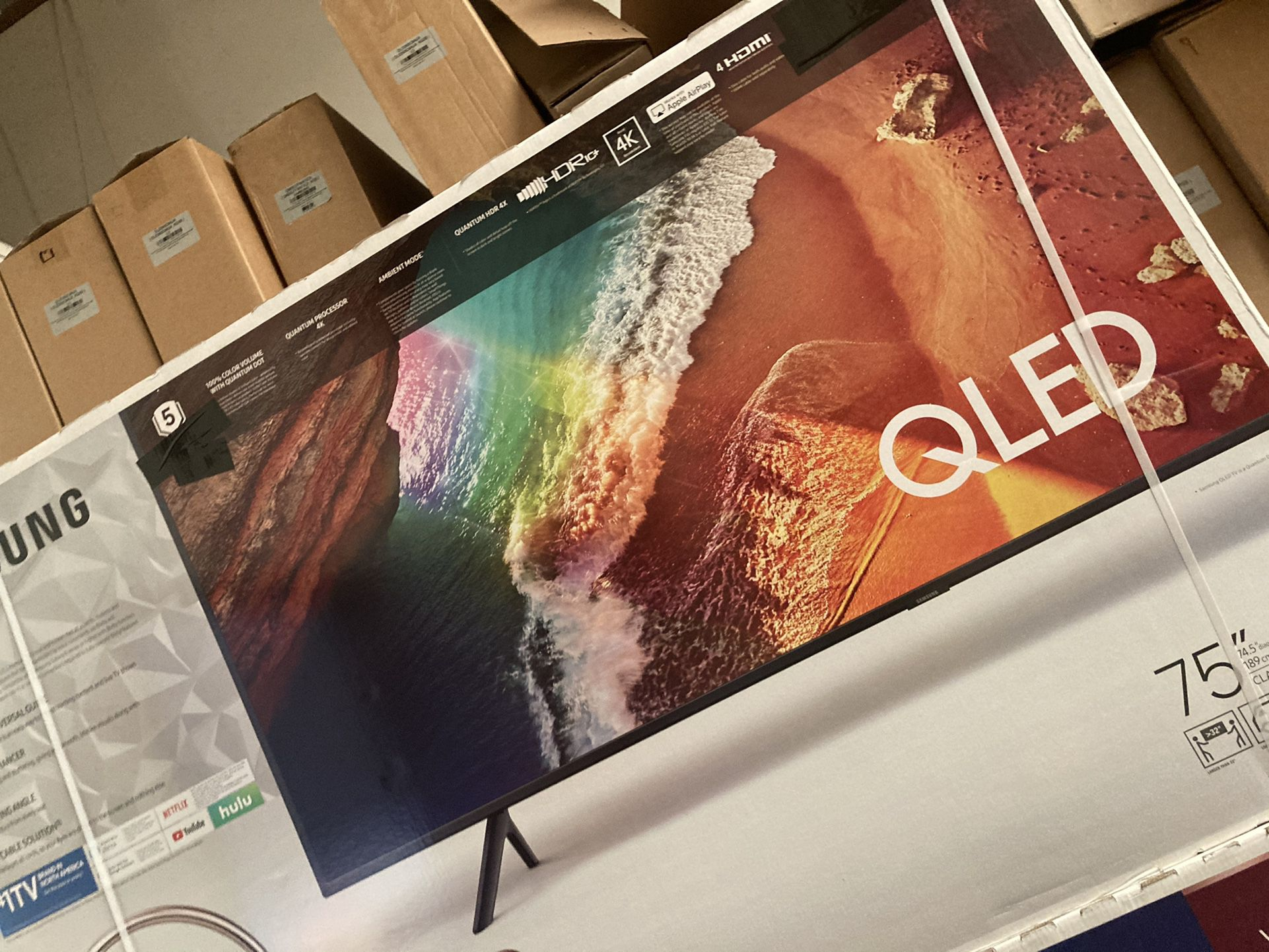 "75"" Samsung Qled Q60r 4K Quantum 240hz UHD Hdr Led Smart TVs 2019"