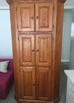 Oak Wood Corner Cabinet for Sale in West Springfield, VA