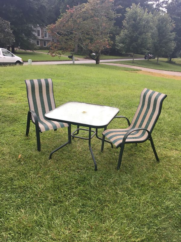 Outside table with two chairs (Furniture) in Roswell, GA - OfferUp