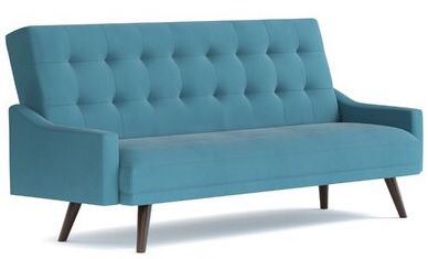 New Click Clack Futon Sofa Sleeper Daybed Blue