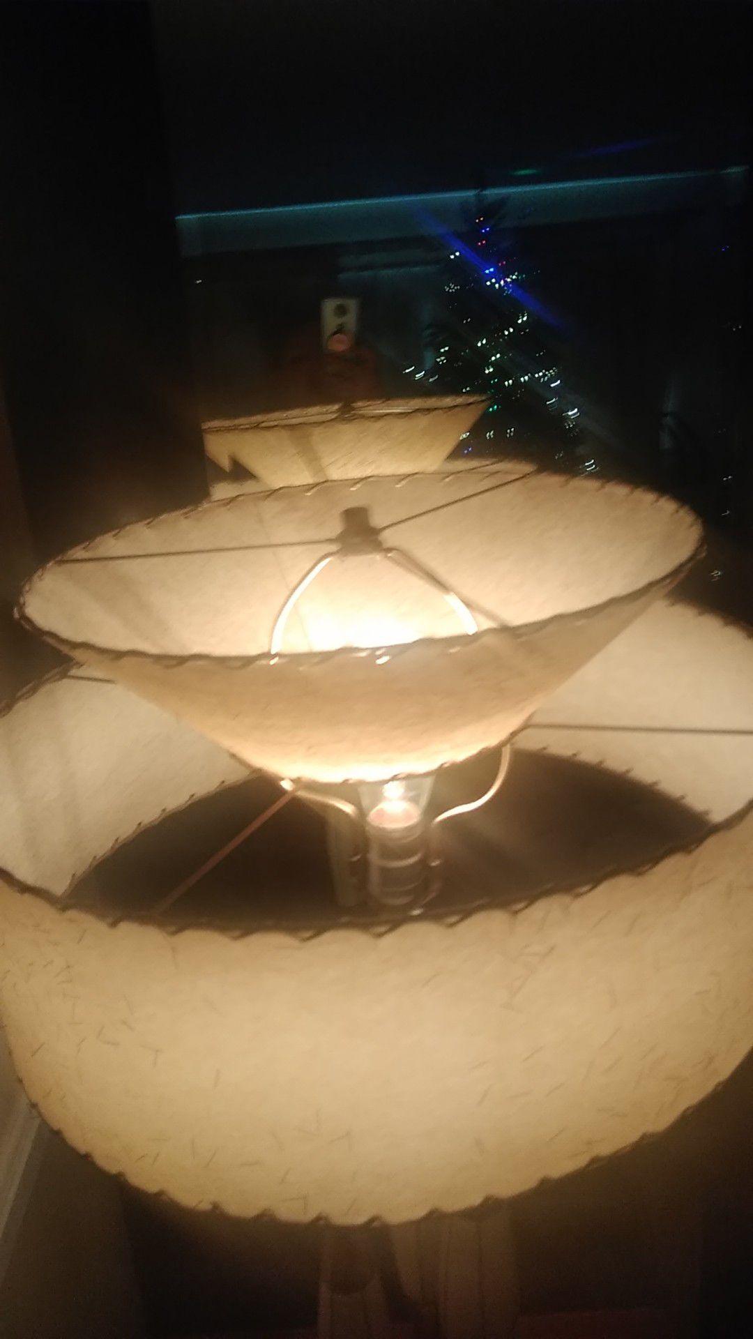 Century Modern Lamp, Fiber Glass Shade