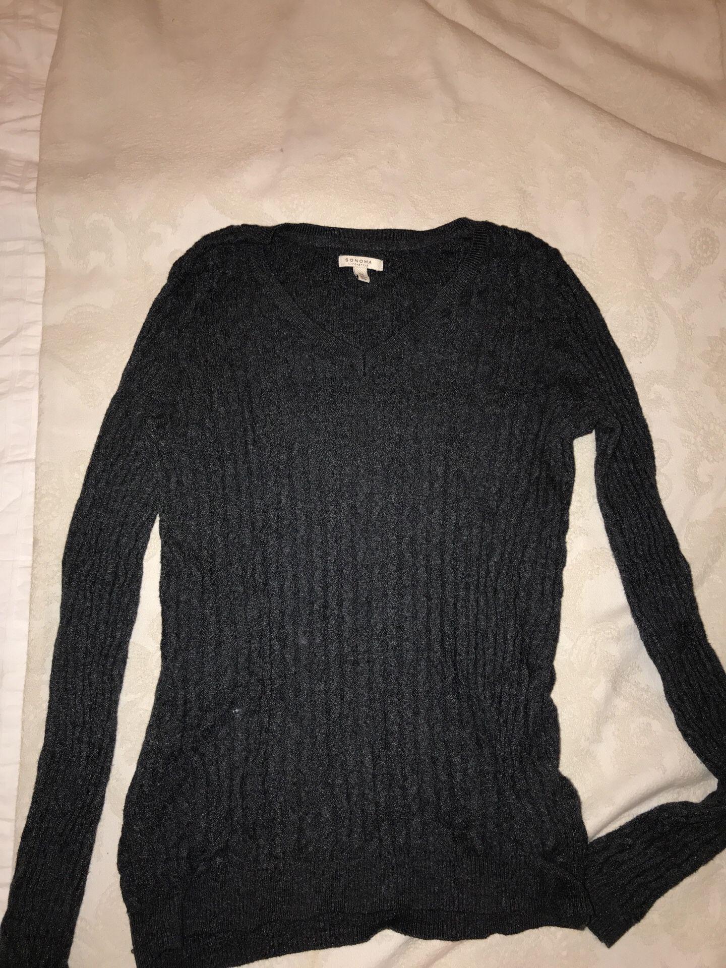 Women's grey sweater