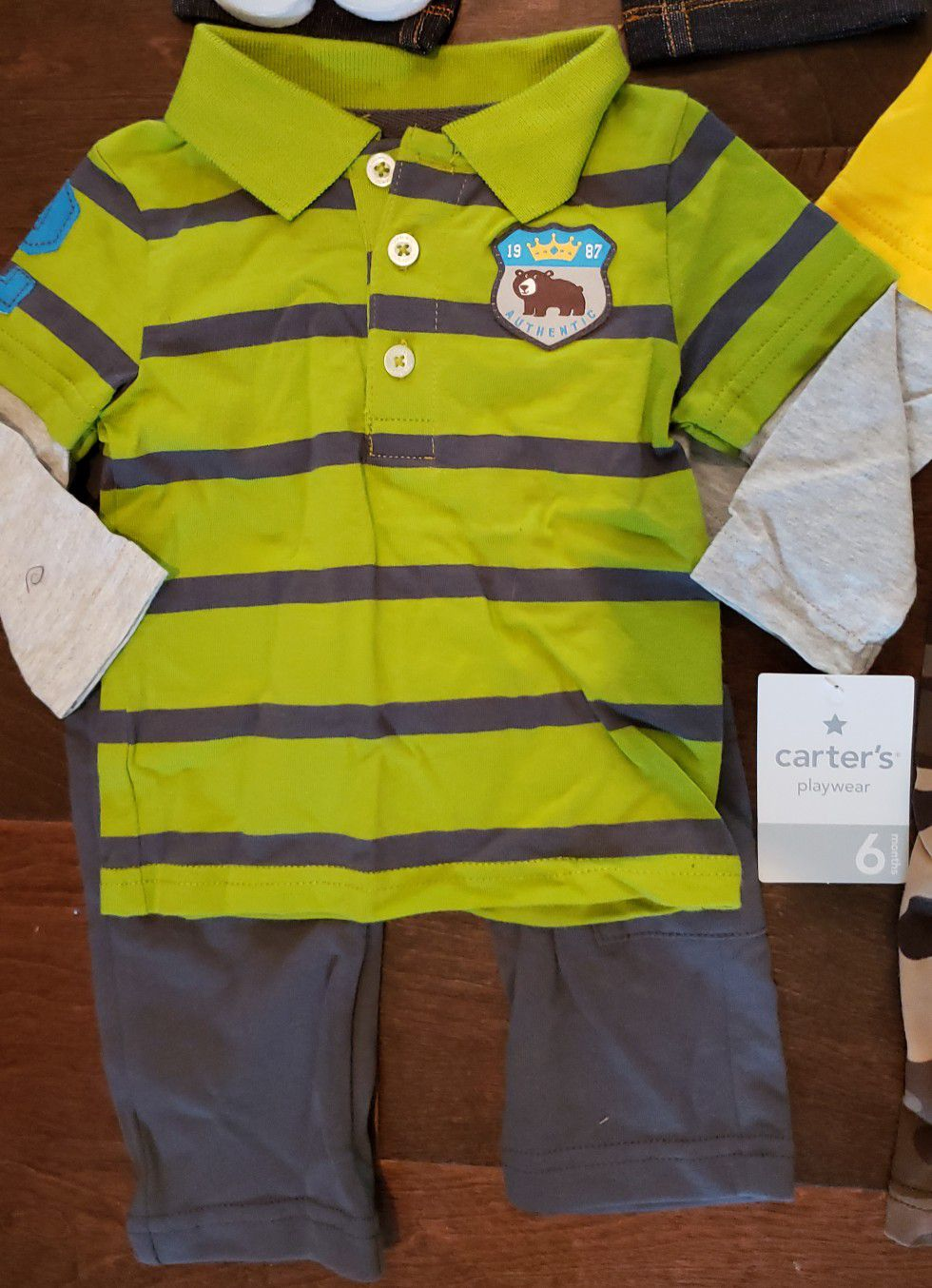 FOUR - 6 month boys outfits by Carter
