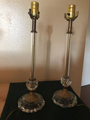 Antique Chrystal lamps for Sale in Houston, TX