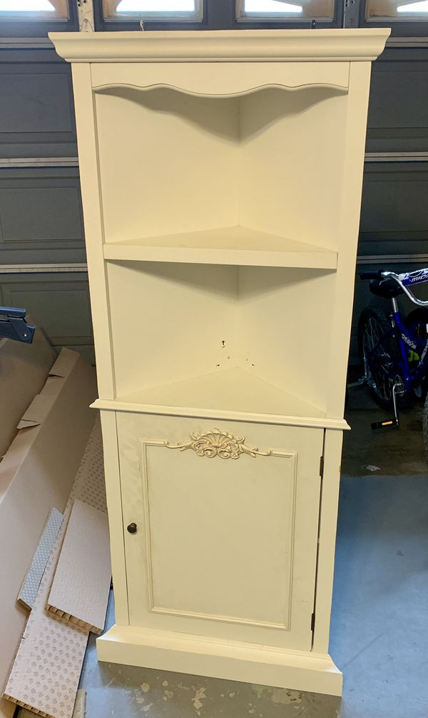 Off White Corner Shelf Cabinet Just Lowered Price For In Redlands Ca Offerup