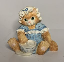 Vintage 1994 Enesco Calico Kittens Figurines Finicky, Observant, Mischievious Thumbnail