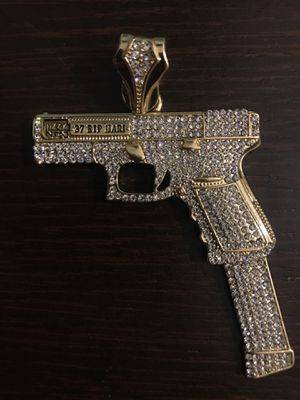 Uzi Chain Piece [ 14K GOLD PLATED ] for Sale in Brookline, MA