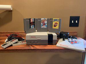 Photo Original NES with Super Mario 1,2 and 3