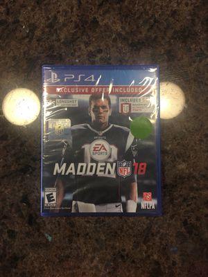 Madden NFL 18 PS4 Sealed pack for Sale in Rockville, MD