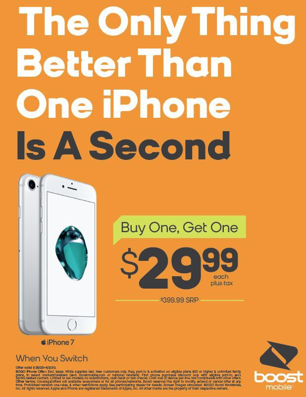 Buy One iPhone 7 and Get One for ONLY $29.99