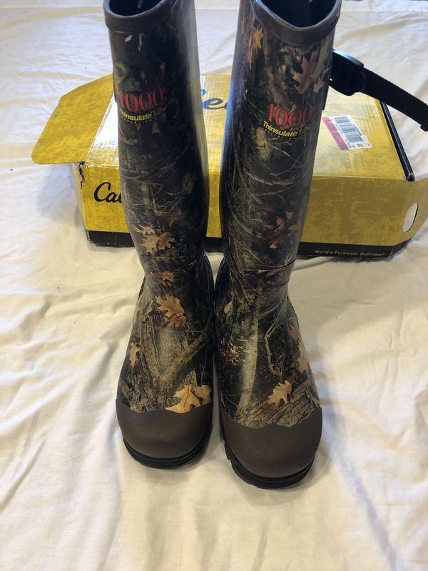54ed8988e06 CABELAS MENS DURA-TRAX 1000G RUBBER BOOTS for Sale in Dallas, TX - OfferUp