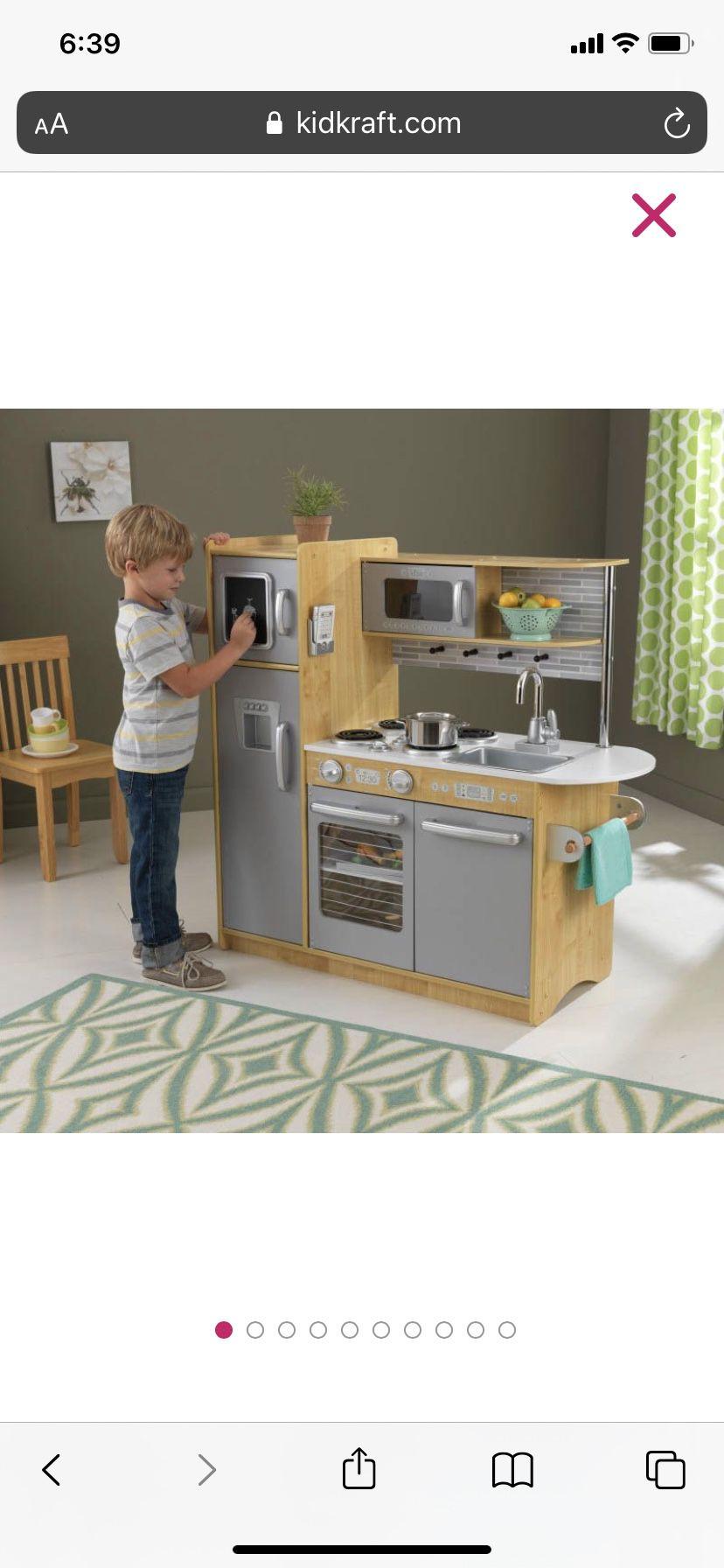 Kidcraft - Kids UPTOWN NATURAL PLAY KITCHEN