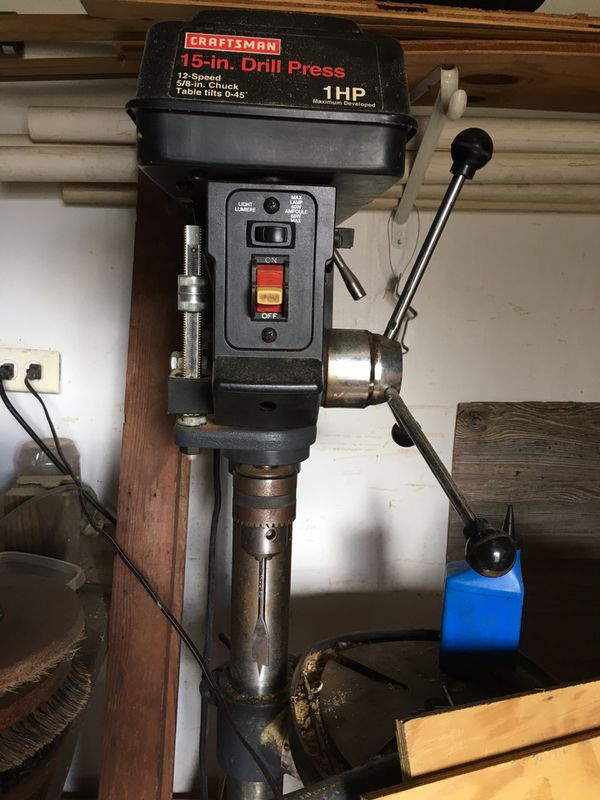 Craftsman 15 Inch Drill Press 12 Speed For Sale In West Memphis Ar Offerup