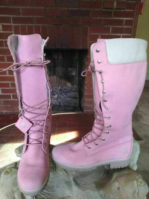 Women's tall Timberland pink custom boots sz 11 for Sale in Rustburg, VA