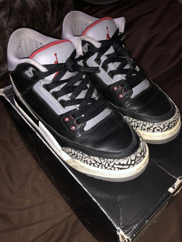 "0ad53227c71e10 PRE-OWNED 2011 NIKE AIR JORDAN 3 RETRO ""CEMENT"" SZ 6Y for Sale in ..."