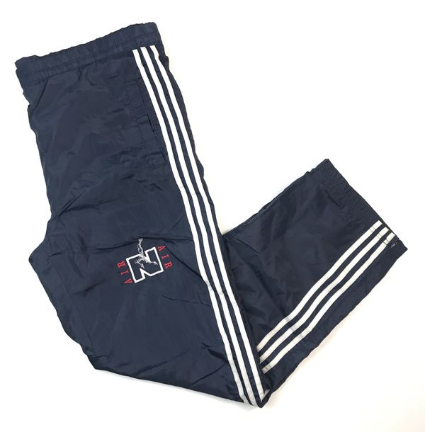 7a762358e VINTAGE VTG 90s Nike air windbreaker pants track sweats sweatpants adidas  three 3 Stripes