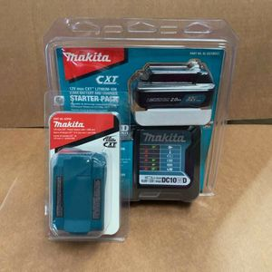 Photo Makita 12-Volt MAX CXT Lithium-Ion Charger, 2.0AH Battery, and Cordless Power Source