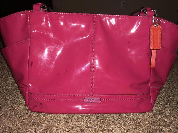 find workmanship extremely unique 2019 real Hot pink Coach purse for Sale in Corona, CA - OfferUp