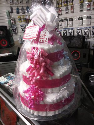 Tina diaper cakes for baby shower and room for Sale in Douglasville, GA
