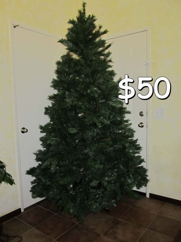 Unlit 7.5' Donner Fir Artificial Christmas Tree by Holiday Time ...