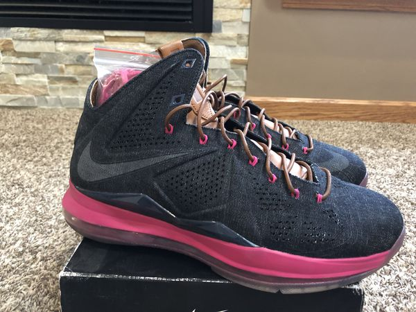 low priced 2bb01 c7bae DS Nike Lebron X EXT Denim QS Size 10.5