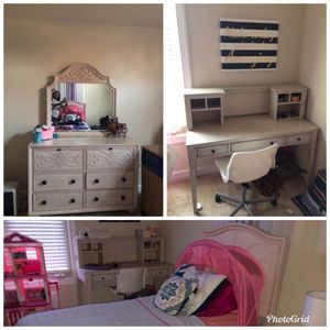 Disney French Country Furnitures, Dresser, Desk and Bed (Single) for Sale in Manassas, VA