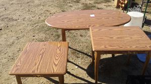 3 piece coffee table set $20.00 small fan $5.00. Electric portable grill $8.00 microwave oven $20.00 handicapped walker $7.00 for Sale in Milton, NC